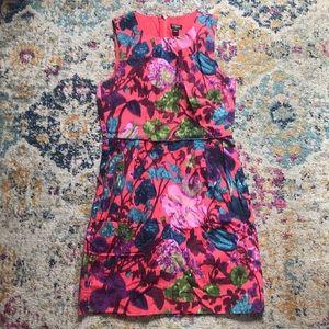 J.Crew Pink Floral Dress Size 4